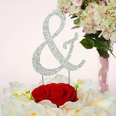 Cake Topper Non-personalized Chrome Wedding / Anniversary / Quinceañera