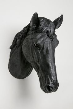 Interior Illusions Matte Black Horse Head by InteriorIllusions