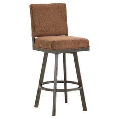 Amazon.com: Iron Mountain Pasadena Swivel Upholstered Bar Stool, Black Finish: Sports & Outdoors
