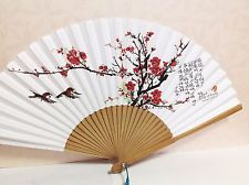 "Korean Art Hand FAN ""Apricot tree 매화"" Traditional Collapsible 53cm 11.6""x20.8"" - 매화 means apricot tree (http://www.ebay.com/bhp/korean-fan)"