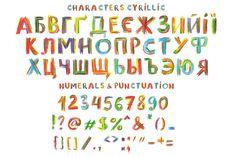 Watercolor splash font  Vector watercolor splash rainbow vector