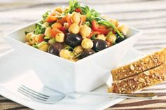 You Can Get Protein Without Eating Meat! Plant based foods give you protein without fats. Plant protein have many other health benefits. Chickpea Salad Recipes, Vegetarian Recipes, Cooking Recipes, Healthy Recipes, Going Vegetarian, Veg Recipes, Easy Recipes, Healthy Salads, Healthy Eating