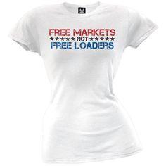 Free Markets Juniors T-Shirt