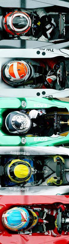 F1 - A beleza dos capacetes