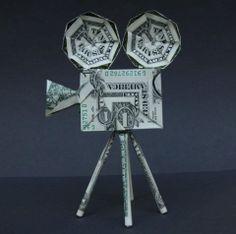 Money Origami Movie Projector
