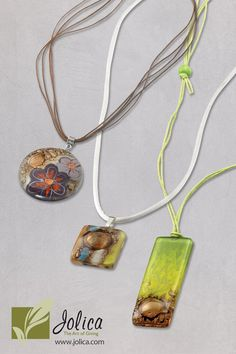 #Fairtrade  Beautiful hand made glass necklaces made in Chile.  40% off at www.jolica.com/amanda.magnusson
