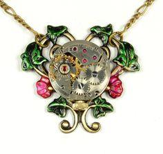 Steam Punk Jewelry Necklace Steampunk by VictorianCuriosities, $30.00