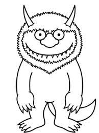 1000 images about where the wild things are on pinterest for Where the wild things are black and white coloring pages