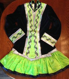 Glamorous Blue KDSF Irish Dance Dress Solo Costume For Sale