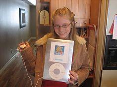 iPod con caja de cereal para san Valentín... Muy buena idea para rellenarlo con dulces