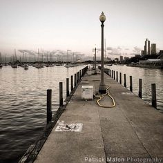 Harbor Pier Lamp Boat Dock - iPhone Photography by Patrick Malon