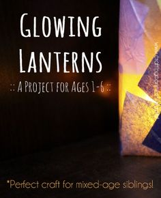 This lantern craft project is done two ways, making it perfect for mixed age siblings, from babies through kindergarteners. It is also a lovely book project for Elisha Cooper's A Good Night Walk.
