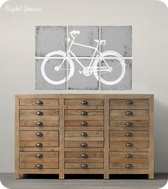 Original Wall Art - Retro Bike Painting by RightGrain - Custom Made just for You. $165.00, via Etsy.