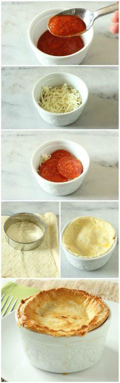 Pepperoni #Pizza Pot Pies