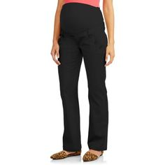 d136372d7f354 Planet Motherhood - Full Panel Woven Plus-Size Maternity Pant With  Button-Front Curved Pockets - Walmart.com