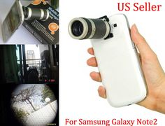 8X Zoom Telescope Camera Lens Case Cover For Samsung Galaxy Note2 Ii N7100