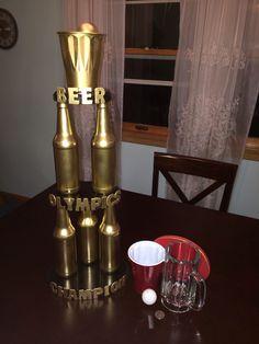 Beer Olympics trophy