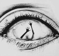 Eye art et dessin image # art # dessin image Creepy Drawings, Dark Art Drawings, Creepy Art, Pencil Art Drawings, Art Drawings Sketches, Cool Drawings, Drawing Art, Drawings Of Eyes, Tattoo Sketches