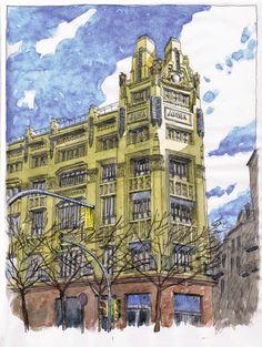 Dibujos-Croquis-Apuntes: Cal Jorba, Barcelona, por Daniel Castro