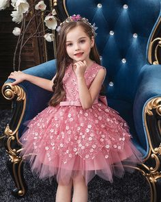 Home - Best Dresses Gowns For Girls, Dresses Kids Girl, Kids Outfits, Flower Girl Dresses, Flower Girls, Princess Dress Kids, Princess Girl, Little Princess, Vestidos Boutique