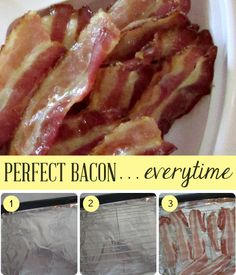 How to cook the perfect bacon... every time. Tip from Somewhat Simple