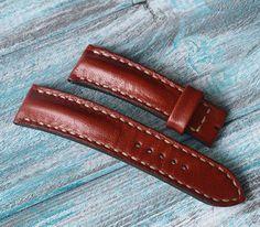 22x20mm leather dark red cream stitching by VladislavKostetskyi
