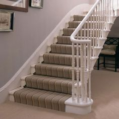hmmm....i think I could do the stripped on my basement steps and do a plain carpet in the basement.  This looks awesome!!!