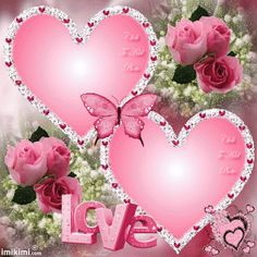 Pink hearts with butterflies love gif Love Heart Images, Heart Pictures, I Love Heart, Heart Wallpaper, Love Wallpaper, Beautiful Gif, Beautiful Flowers, Beautiful Hearts, Coeur Gif