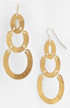 Slightly more dramatic Argento Vivo Drop Earrings available at Statement Earrings, Drop Earrings, Artisanal, Washer Necklace, Nordstrom, Inspiration, Accessories, Jewelry, Copper