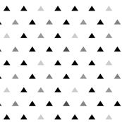 Black Gray Triangles by mrshervi, Spoonflower digitally printed fabric, wallpaper, and gift wrap