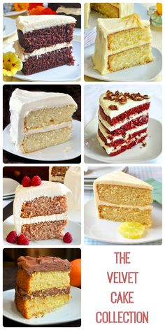 The Velvet Cake Collection - a collection of 9 different versions of a soft, tender, moist, homemade scratch cake like you've never tried.…