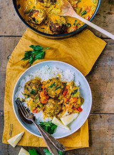 Linsenbällchen in Paprika Curry Sauce - Klara`s Life