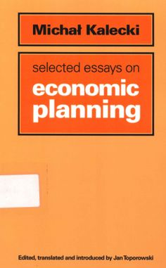 Selected Essays on Economic Planning (PRINT, 2010)  SOLICITAR/REQUEST