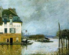 Alfred Sisley - Port-Marly, inondation (1876)
