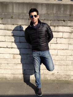 Italian man streetspotted with blue Mirror Ray-Bans !