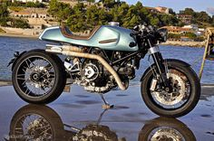 Motorbike - cool photoYou can find Ducati monster and more on our website. Sportster Cafe Racer, Nkd Cafe Racer, Ducati Scrambler Cafe Racer, Cb 750 Cafe Racer, Kawasaki Cafe Racer, Ducati Motorcycles, Custom Cafe Racer, Cafe Racer Motorcycle, Cafe Racers