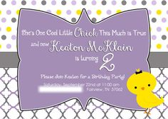 Cool Chick Custom Girl's Birthday Party by LetterBeePaperie, $12.00