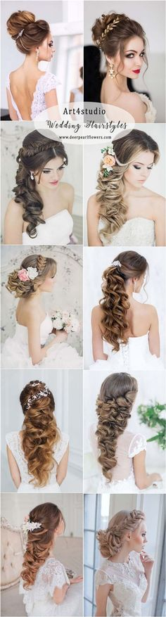 Art4studio long wedding hairstyles and updos #weddings #hairstyles #bride #fashion ❤️http://www.deerpearlflowers.com/art4studio-wedding-hairstyles/