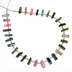 FLUORITE WITH PYRITE GEMSTONE LOOSE BEADS GRADUATED SET 7 BEADS