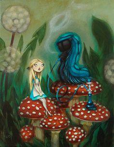 Advice From a Caterpillar - Alice in Wonderland by kristahuot, via Flickr