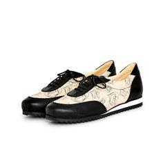 Olive Sneaker, Love Print, Black by Terhi Pölkki