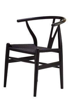 Replica Hans Wegner Wishbone Chair Black with -- The Wishbone Chair