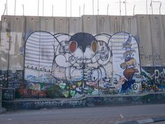 THE WALL BETWEEN PALESTINE AND ISRAEL
