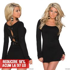 Rochie Emi Black >> Click pe poza pentru a intra pe site. Rochie din tricotaj fin, scurta, un model cambrat pe talie.   #rochii #rochiideseara #fashion #dress #rochiideocazie #NFR #NewFashionRomania #declub  #VinereaNeagra #BlackFriday #Reduceri #fashion #BlackFridayFashion #ReduceriBlackFriday Black Friday, Model, Dresses, Fashion, Moda, Vestidos, Fashion Styles, Dress