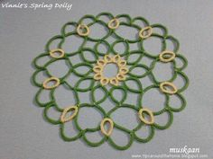 Spring Doily designed by Vinnie .... muskaan's T*I*P*S: double duty due to delegated dusting
