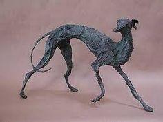greyhound sculpture - Google Search Greyhound Art, Italian Greyhound, Skinny Dog, Paper Mache Sculpture, Virtual Art, Lurcher, Wolfhound, Art Archive, Animal Sculptures