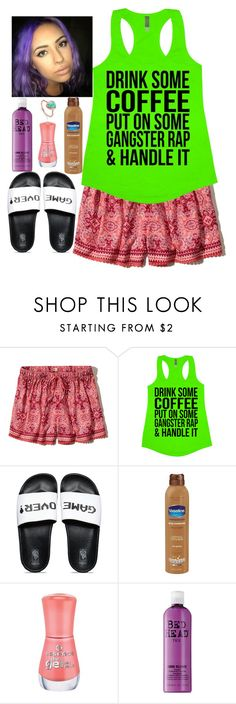 """""""Untitled #1458"""" by purplicious ❤ liked on Polyvore featuring Hollister Co., Vans, Manic Panic NYC, Essence, TIGI and Monica Vinader"""