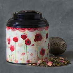Little Tea Caddy  Poppies by Minasmoke on Etsy, $16.00