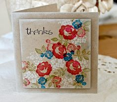 Stampin' Up ideas and supplies from Vicky at Crafting Clare's Paper Moments: Baby Blossoms