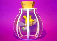Fairy in a Bottle Papercraft - by Nintendo Papercraft          ==      A really beautiful papercraft of a Fairy in a Bottle, by Nintendo Papercraft website. The templates are in PDF (Adobe Reader) and PDO (Pepakura) formats, so you can print the PDFs and use the PDO with Pepakura Viewer Free Version (link to download at the end of this post) to help with the assembly.